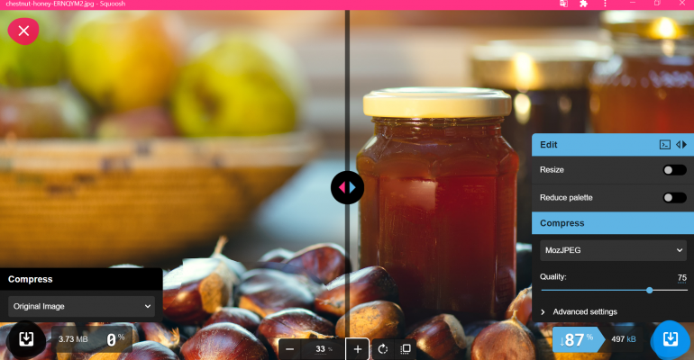 Squoosh, herramienta para optimizar imágenes